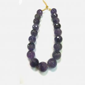 Amethyst Big Beads Necklace - Main