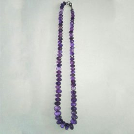Amethyst Oval Beads Necklace - Main