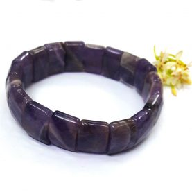 Amethyst Square Beads Bracelet - Main