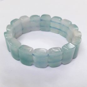 Aquamarine Square Beads Bracelet - Main