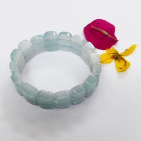 Aquamarine Square Beads Bracelet1
