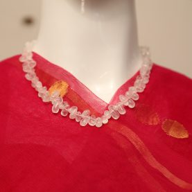 Clear Quartz Petal Beads Necklace1