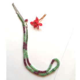 Emerald & Ruby Necklace - Main